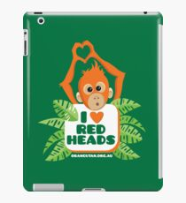 I heart (love) redheads baby orangutan ipad iPad Case/Skin