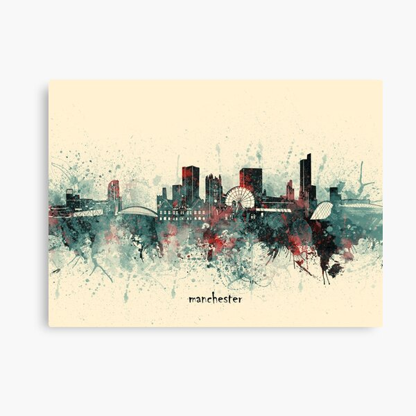 manchester skyline  Canvas Print