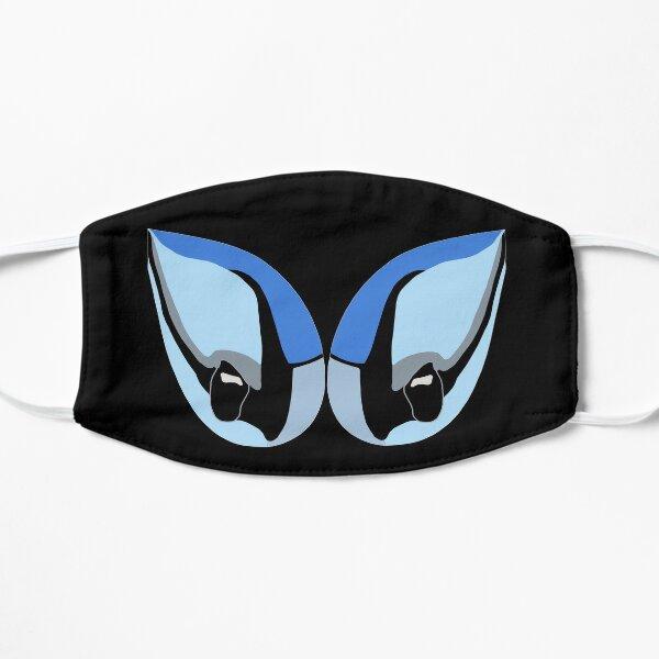 Blue Jay Eyes - Black Mask Flat Mask