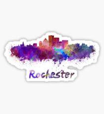Rochester skyline in watercolor Sticker