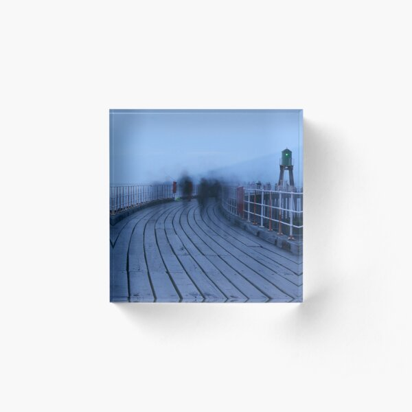 Ghostly Figures - Whitby Pier Acrylic Block