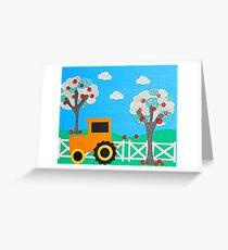 Tractor Farm Greeting Card