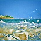 Upclose! Sea Foam In Your Face! by Jack McCabe