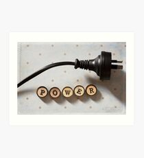 Word of the day: POWER Art Print