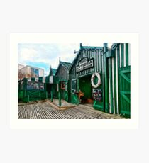 Phipps Antigua Boat Sheds and Cafe, Christchurch NZ Art Print