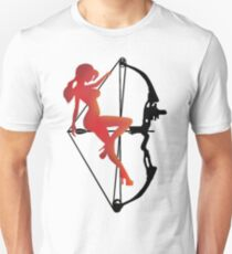 ARCHERY-SEXY COMPOUND GIRL ON ARROW Unisex T-Shirt