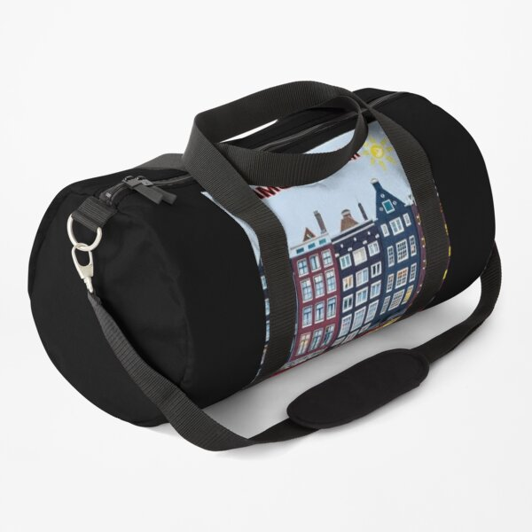 BICYCLE RIDING; In Amsterdam Holland Print Duffle Bag