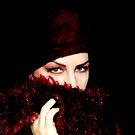 burgandy scarf by Beverly Cash