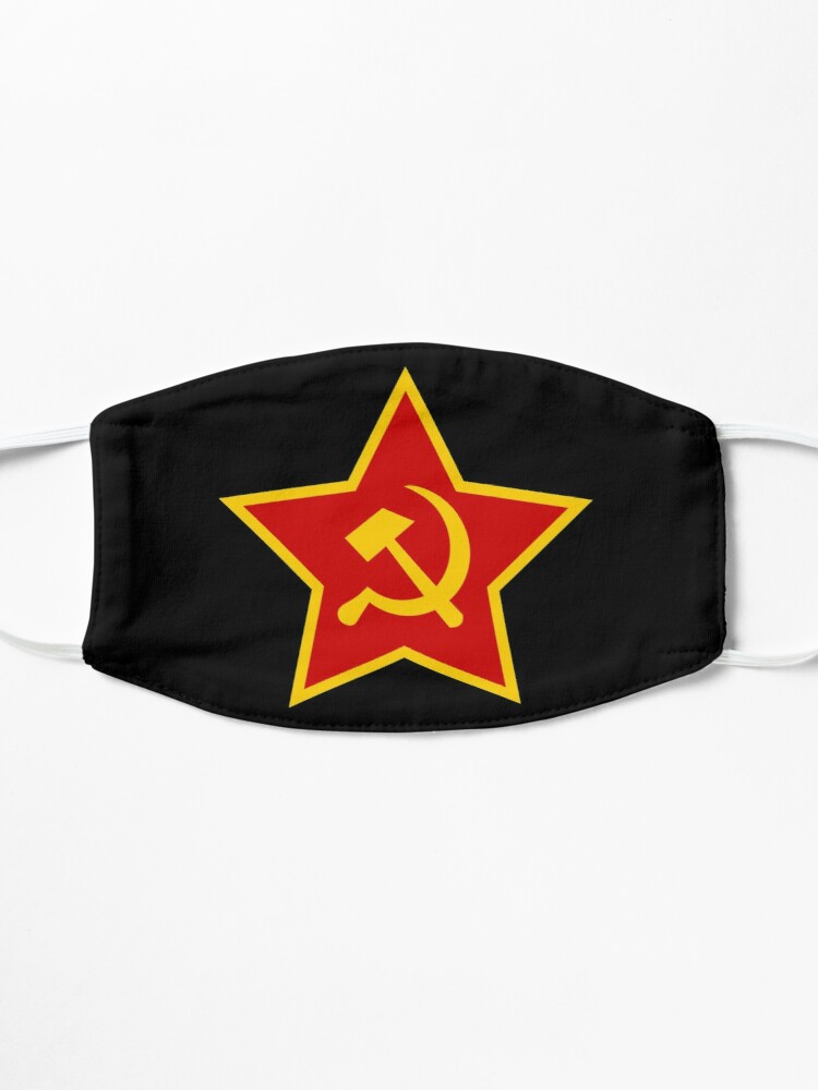 Alternate view of Soviet Red Army Hammer and Sickle ☭ Mask