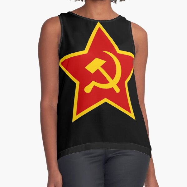 Soviet Red Army Hammer and Sickle ☭ Sleeveless Top