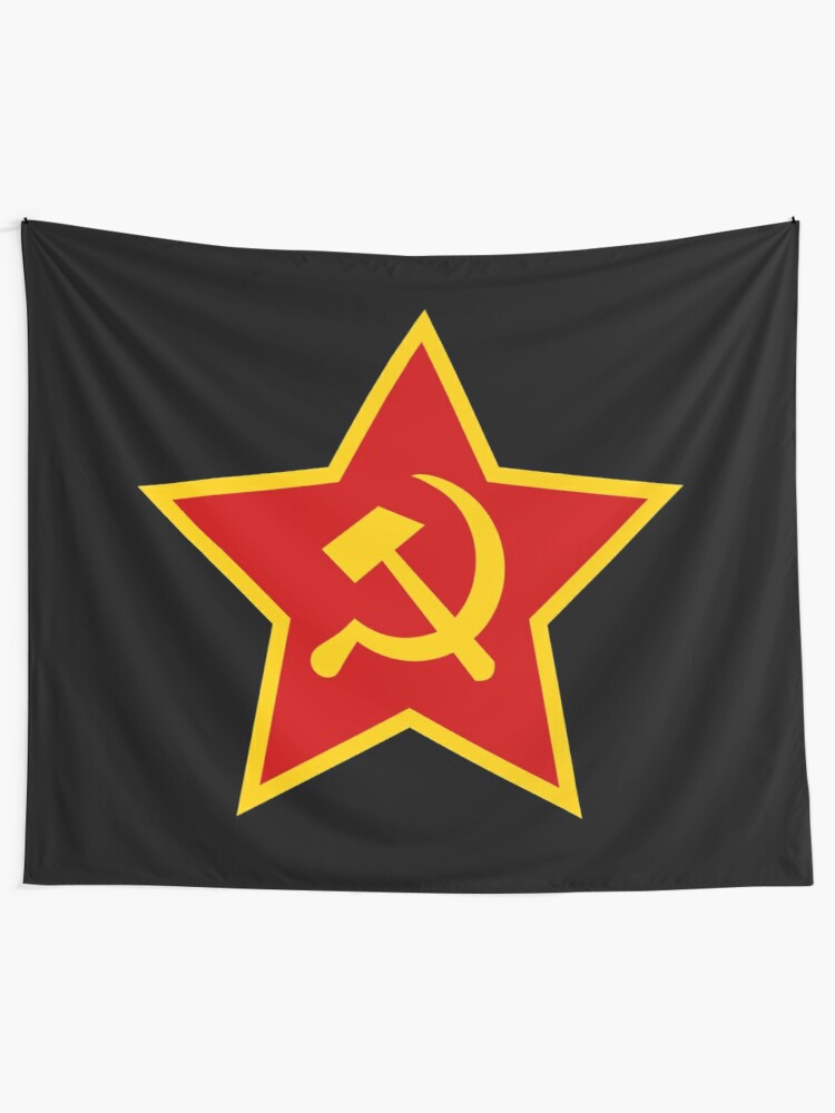 Alternate view of Soviet Red Army Hammer and Sickle ☭ Tapestry