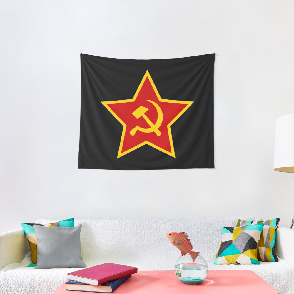 Soviet Red Army Hammer and Sickle ☭ Tapestry
