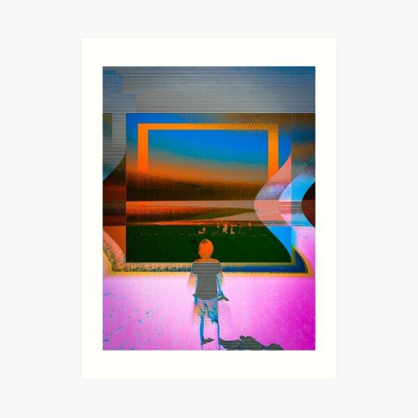 Beyond the window Art Print