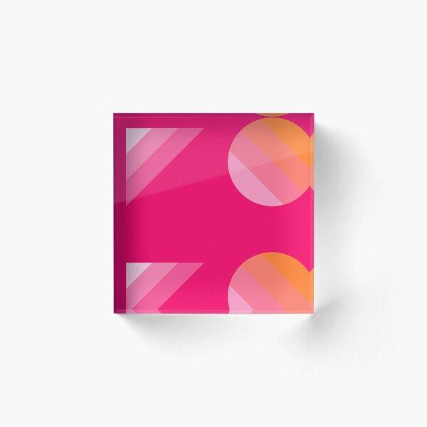 The Bright Geometric Shapes Acrylic Block