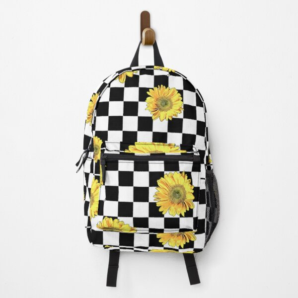Checkered Sunflowers Backpack