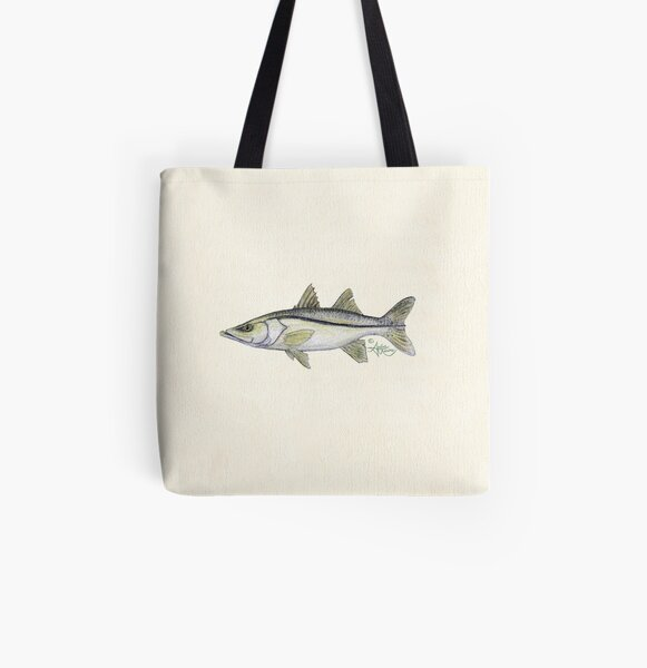"""""""Snook"""" by Amber Marine ~ watercolor fish art, © 2013 All Over Print Tote Bag"""