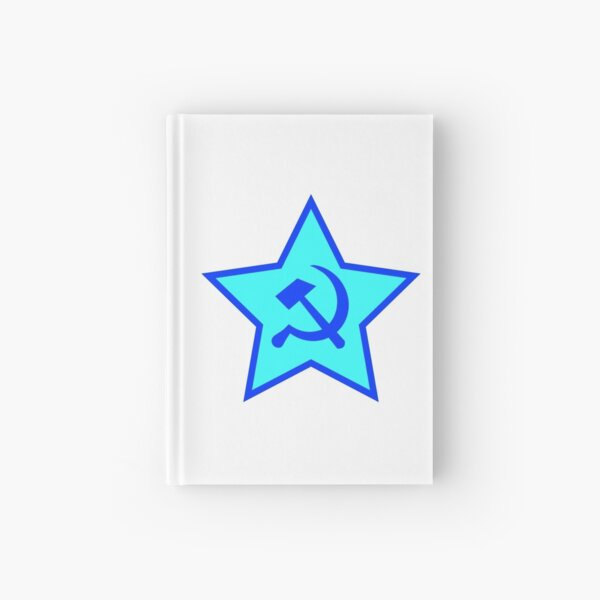 Blue Star, Hammer, and Sickle Hardcover Journal