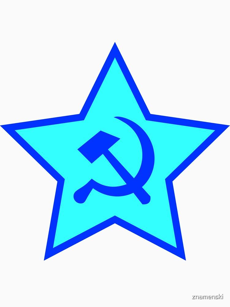 Blue Star, Hammer, and Sickle by znamenski