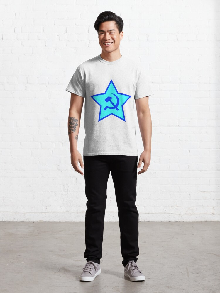 Alternate view of Blue Star, Hammer, and Sickle Classic T-Shirt