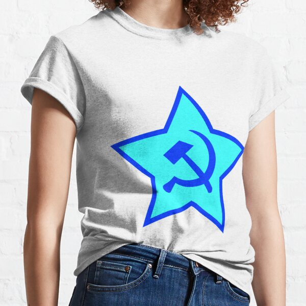 Blue Star, Hammer, and Sickle Classic T-Shirt