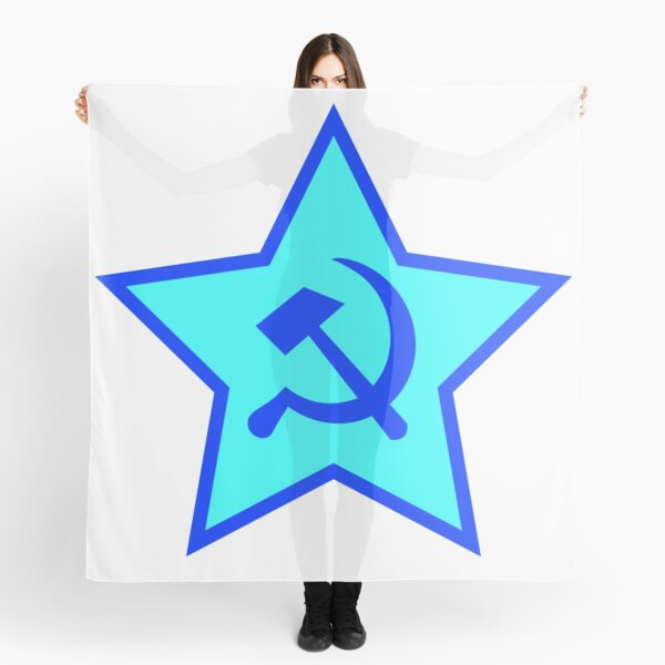 Blue Star, Hammer, and Sickle Scarf
