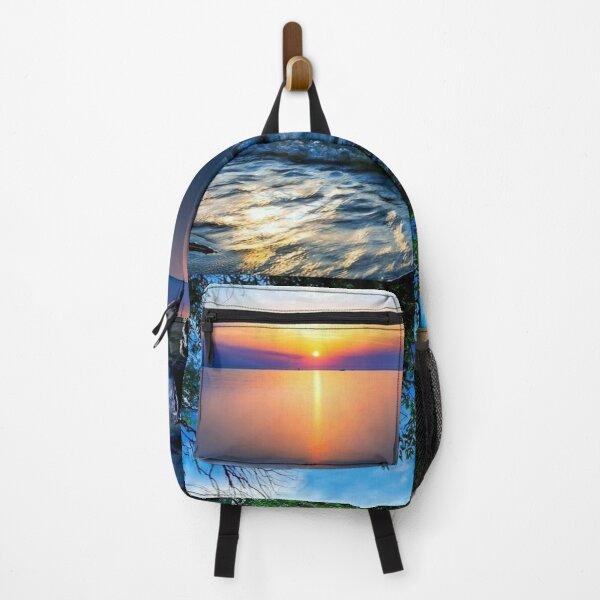 Blue ocean sunset  Backpack