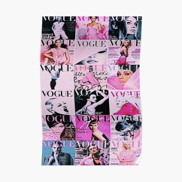 pink vogue Poster