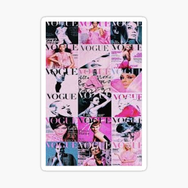 vogue rose Sticker