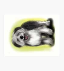 Alex Old English Sheep Dog Art Print