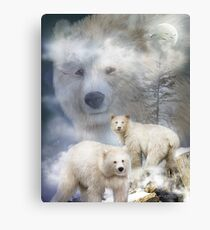 Spirit Of The White Bear Canvas Print