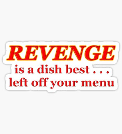 forget revenge Sticker