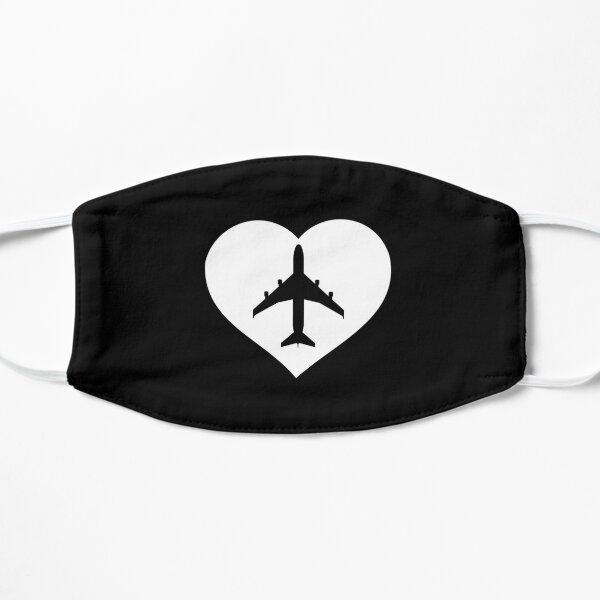 Airplane inside the heart for avgeek Mask