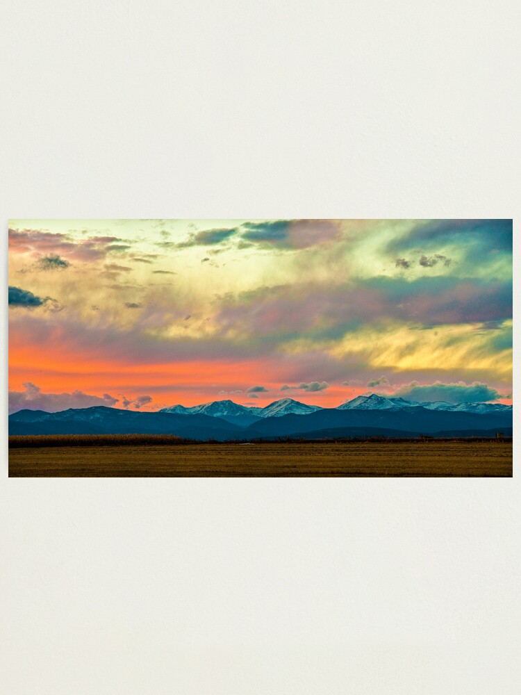 Alternate view of Mummy Range Sunset Photographic Print