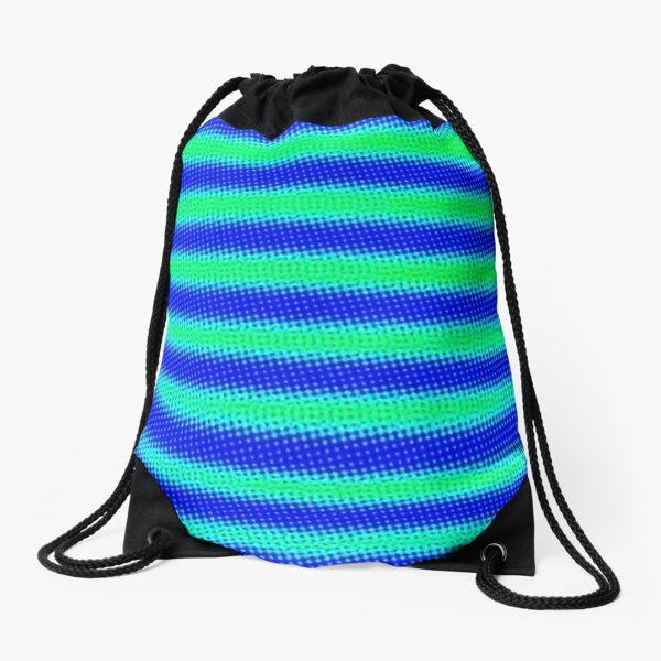AQUARIUS PEACOCK ELECTRIC BABY Drawstring Bag