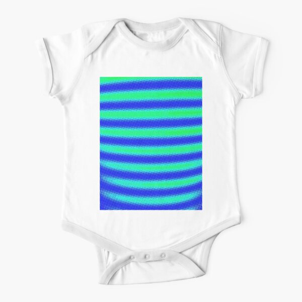 AQUARIUS PEACOCK ELECTRIC BABY Short Sleeve Baby One-Piece