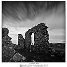 LLanddwyn Island ruins by Beverly Cash