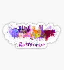 Rotterdam skyline in watercolor Sticker