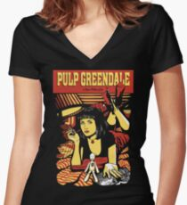 Pulp Greendale Women's Fitted V-Neck T-Shirt