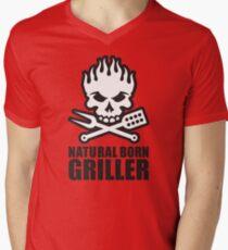 Natural born griller Men's V-Neck T-Shirt
