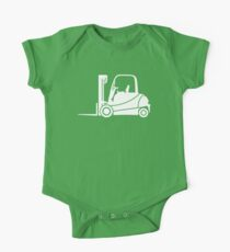 Forklift Truck Silhouette Kids Clothes