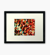relief tetris structure Framed Print