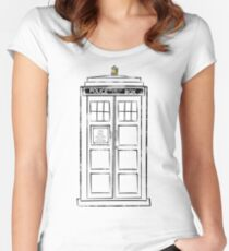 Tardis (trashy) Women's Fitted Scoop T-Shirt