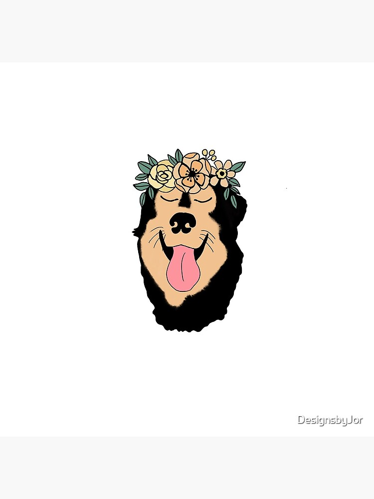 Flower Crown Cartoon Dog Drawing Black And Tan Dog Greeting Card By Designsbyjor Redbubble Copyrights and trademarks for the cartoon, and other promotional materials are held by their respective owners and their use is allowed under the fair use clause of the copyright law. redbubble