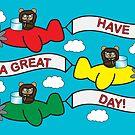 Flying Bears by ValeriesGallery