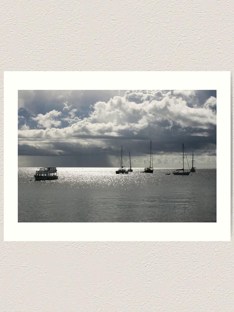 Alternate view of Boats at Store Bay, Tobago Art Print