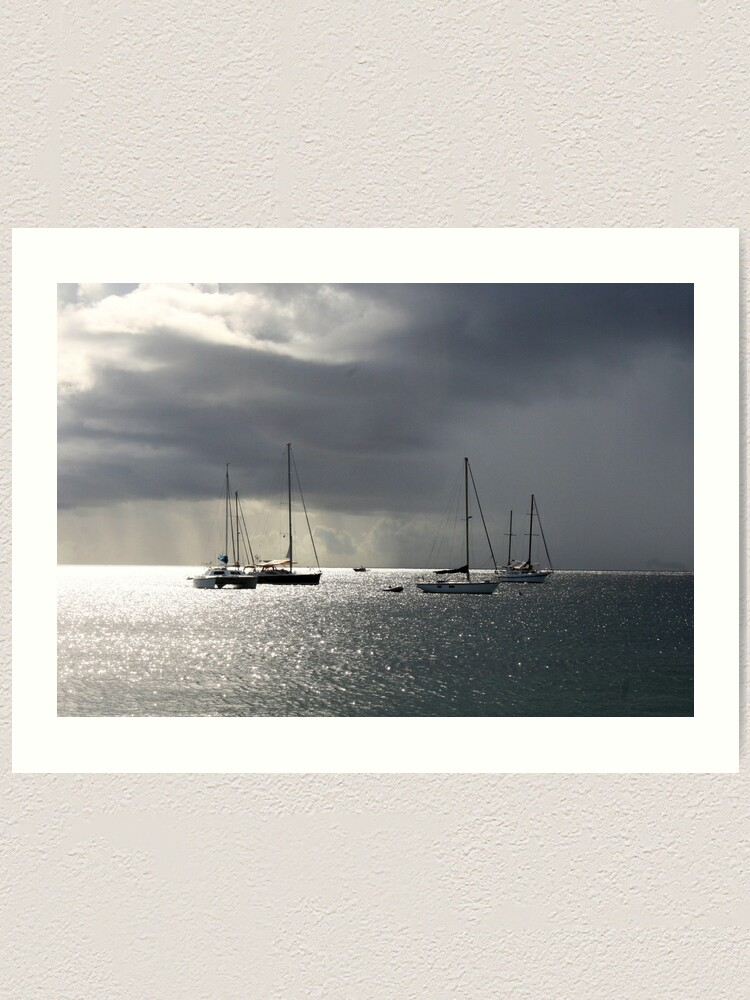 Alternate view of Boats at Store Bay, Tobago Art Print
