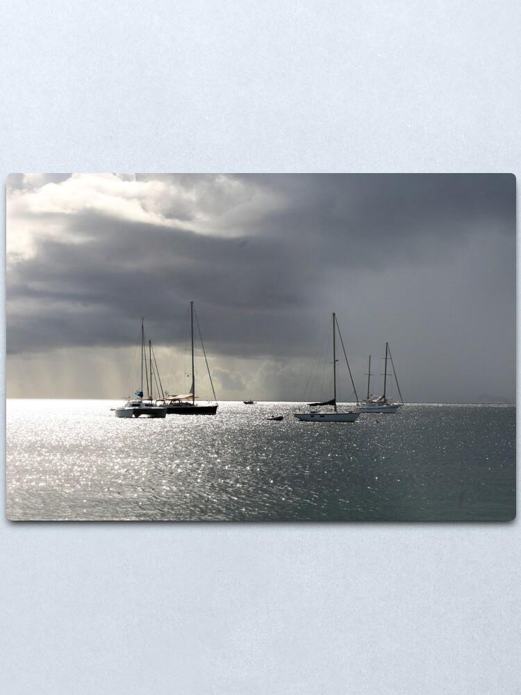 Alternate view of Boats at Store Bay, Tobago Metal Print