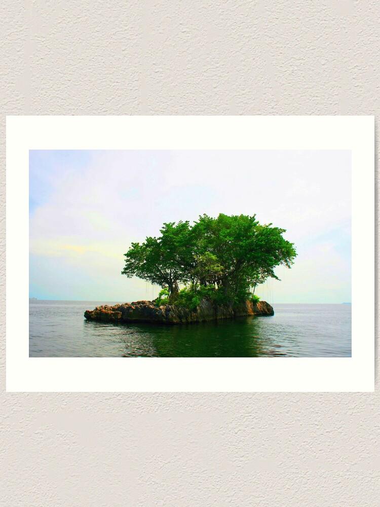 Alternate view of A Very Small Island Art Print