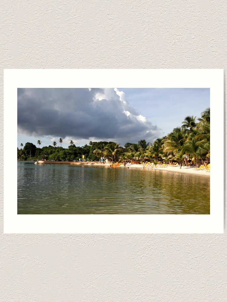 Alternate view of Coconut Bay, Tobago Art Print