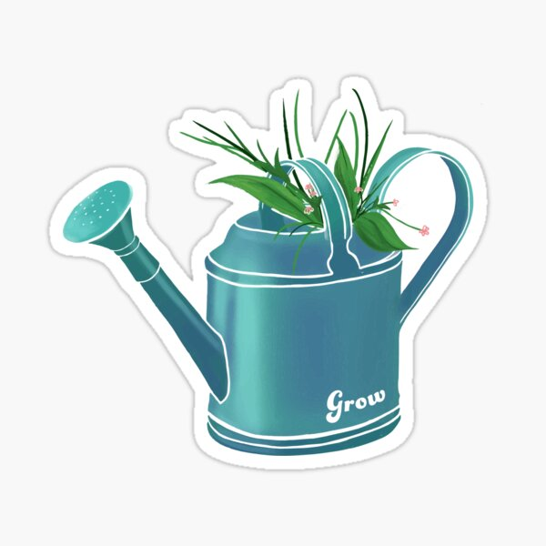 Watering Can Planter Sticker